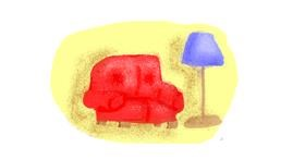 Drawing of Couch by cookie karr