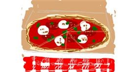 Pizza drawing by Firsttry