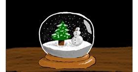Snow globe drawing by Sam