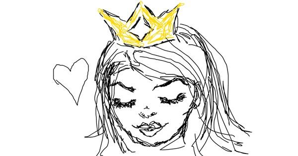 Queen drawing by Ballice