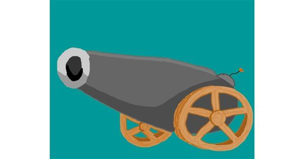 Cannon drawing by Mackanilla
