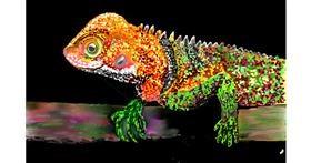 Drawing of Lizard by GJP