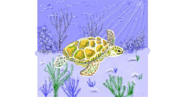 Sea turtle drawing by Geo-Pebbles