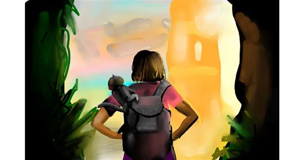 backpack drawing by Rose rocket