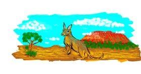 Kangaroo drawing by 7y3e1l1l0o§