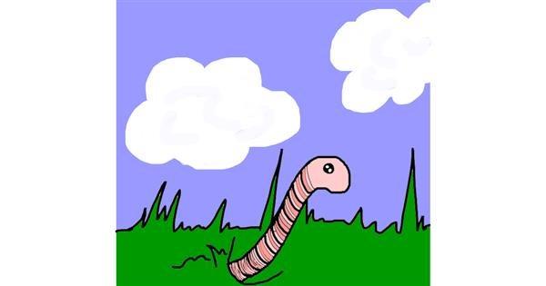 Worm drawing by AdiCat