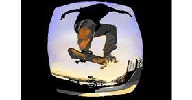 Skateboard drawing by VinnievanG