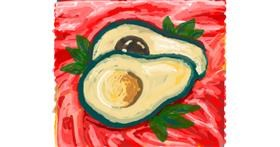 Avocado drawing by shinkinoko