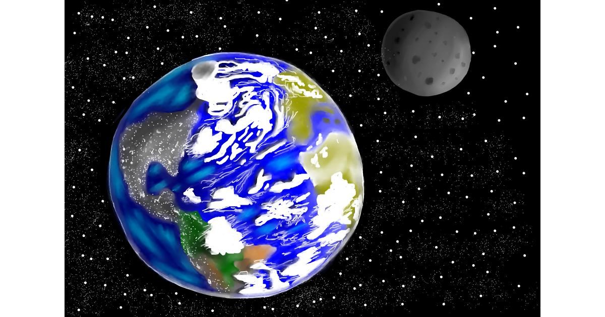 Planet drawing by Jan