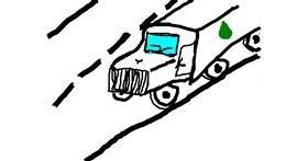 Truck drawing by Marija