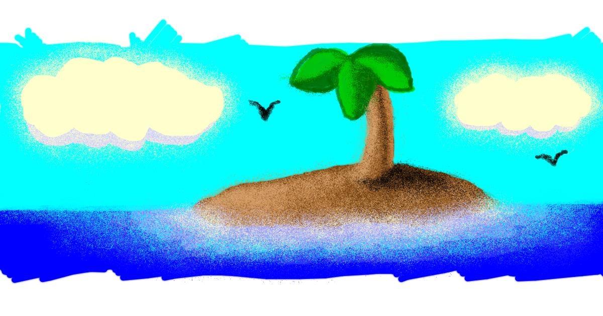 Island drawing by 👁️ Shei 👁️