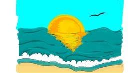 Beach drawing by Jennifreis