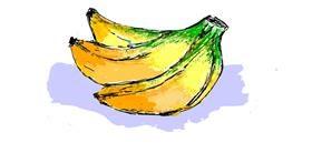 Banana drawing by Lsk