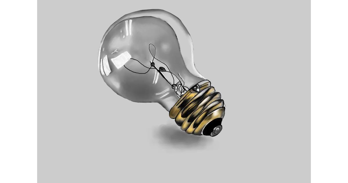 Light bulb drawing by Jan