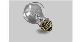 Drawing of Light bulb by Jan