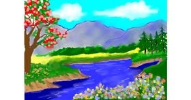 River drawing by Debidolittle