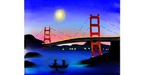 Bridge drawing by Mitzi