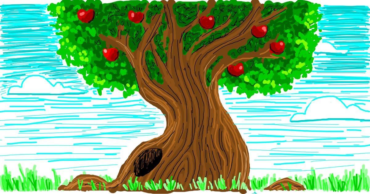 Tree drawing by Nina