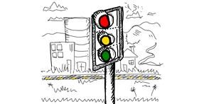 Traffic light drawing by Zaza