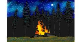 Drawing of Campfire by GJP