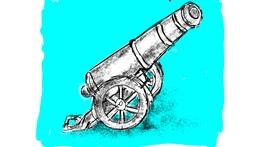 Cannon drawing by Lsk