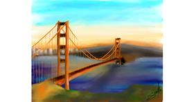 Bridge drawing by Sophie_draw24
