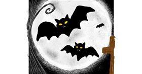 Bat drawing by Mercy