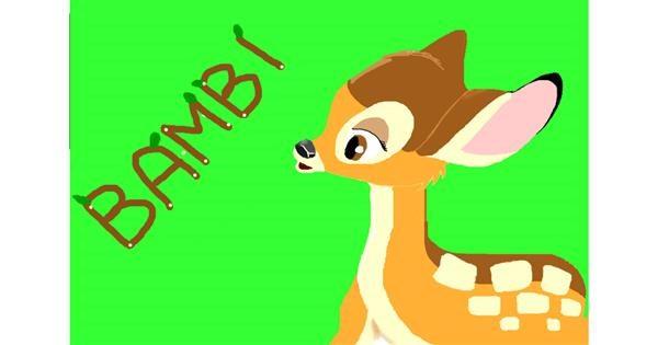 Bambi drawing by 🥒kUrRi🥒