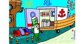 Drawing of Ambulance by InessaC