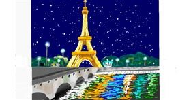 Eiffel Tower drawing by GJP