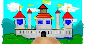 Castle drawing by pajama