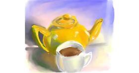 Teapot drawing by Ankita Sharma
