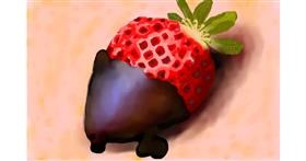Strawberry drawing by Sirak Fish