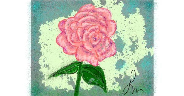 Flower drawing by Nonuvyrbiznis