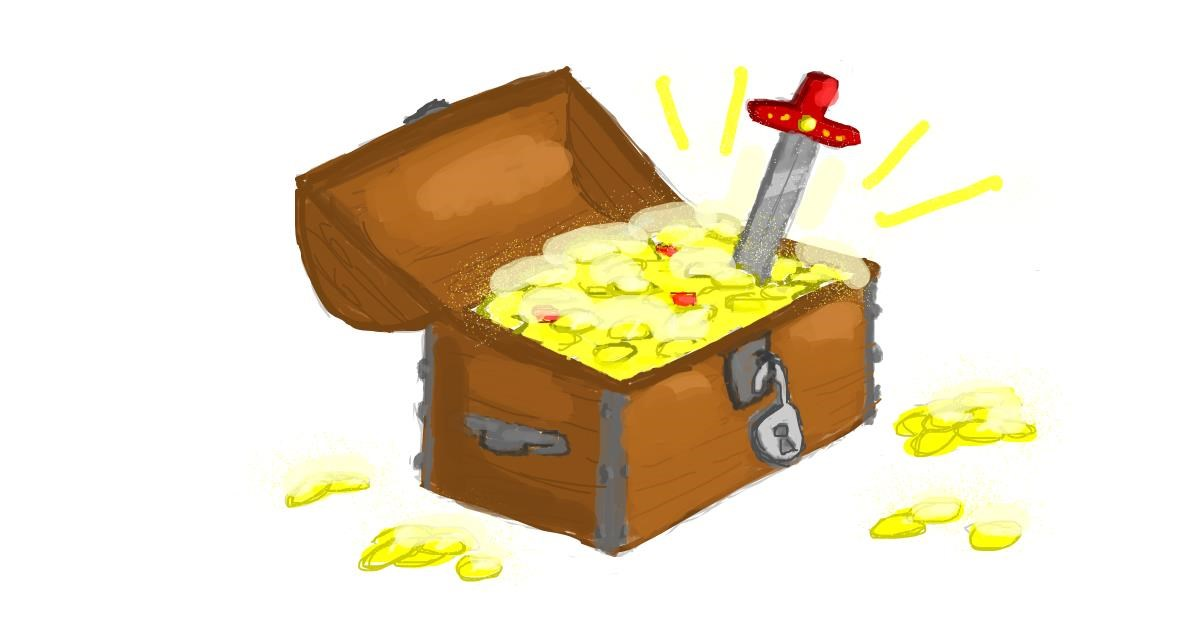Drawing of Treasure chest by smackerel