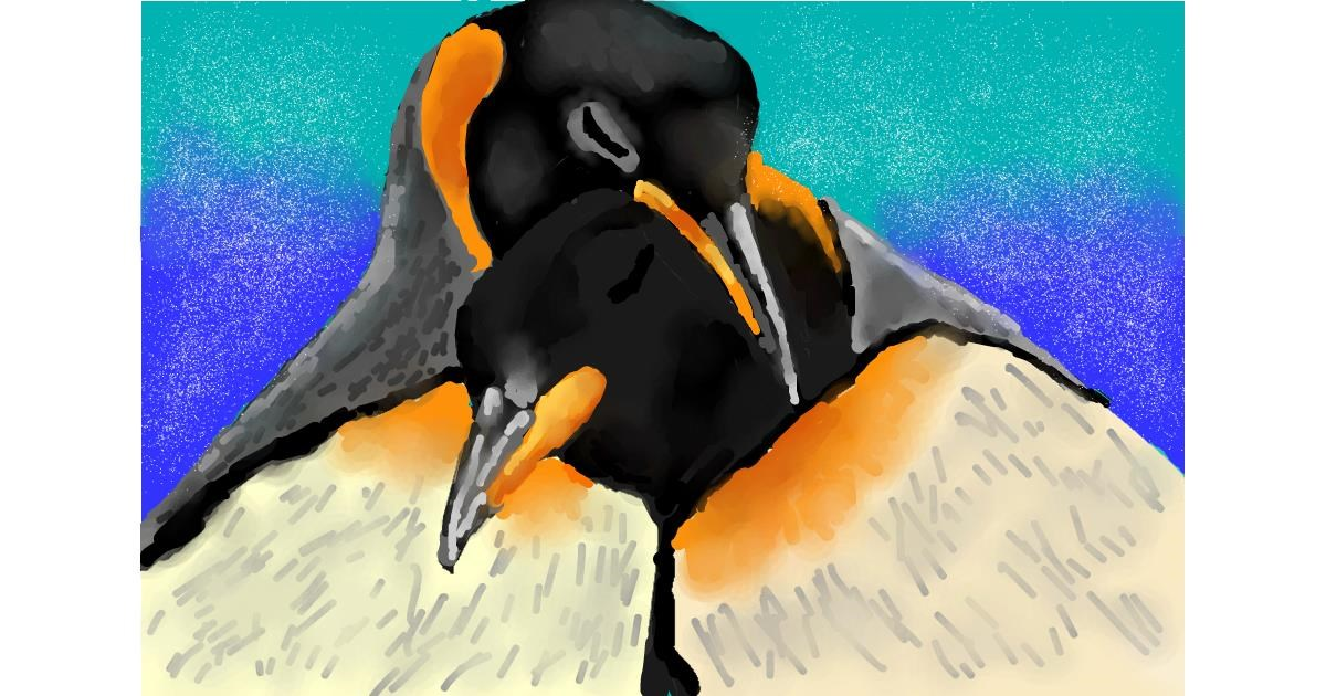 Penguin drawing by Kaddy