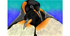 Penguin drawing by Kaddy