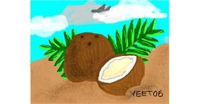 Coconut drawing by Yeet06