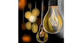 Drawing of Light bulb by Bishakha