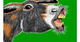 Drawing of Donkey by SAM AKA MARGARET 🙄