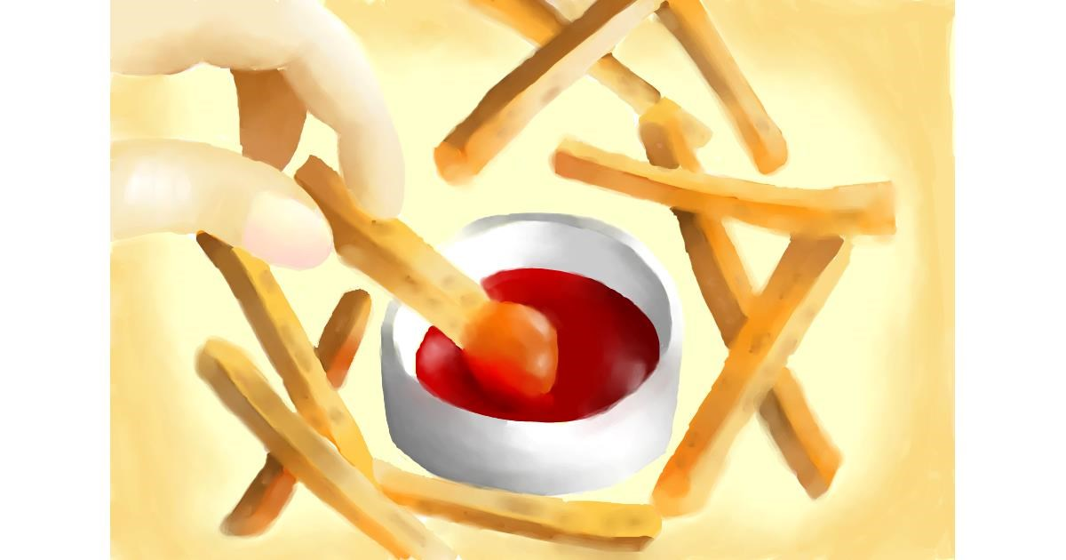Drawing of French fries by Swkieee