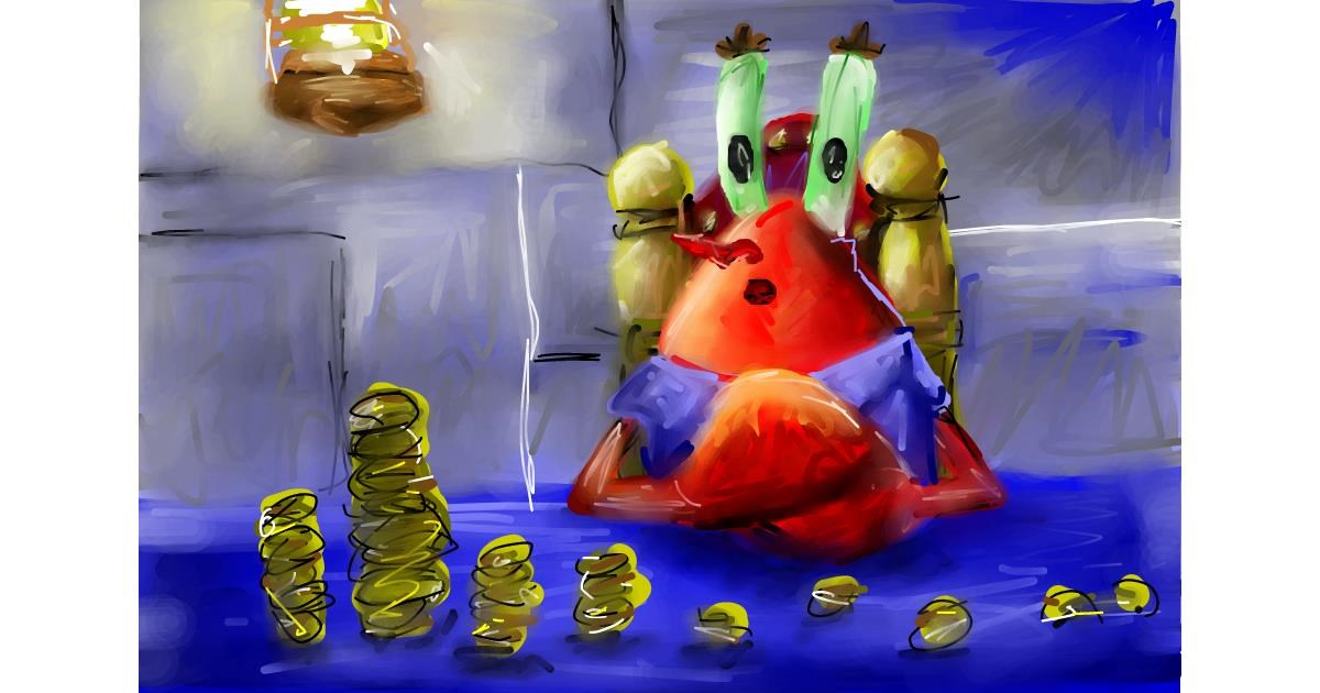 Mr. Krabs (spongebob) drawing by Soaring Sunshine