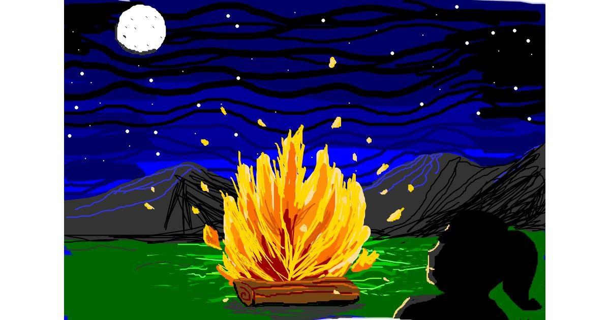 Drawing of Campfire by MRPANDA2