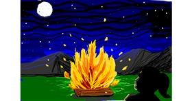 Campfire drawing by MRPANDA2