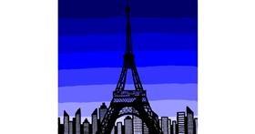 Eiffel Tower drawing by Joze