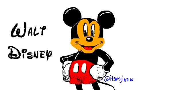 Mickey Mouse drawing by mj