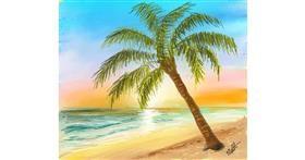 Beach drawing by Muni