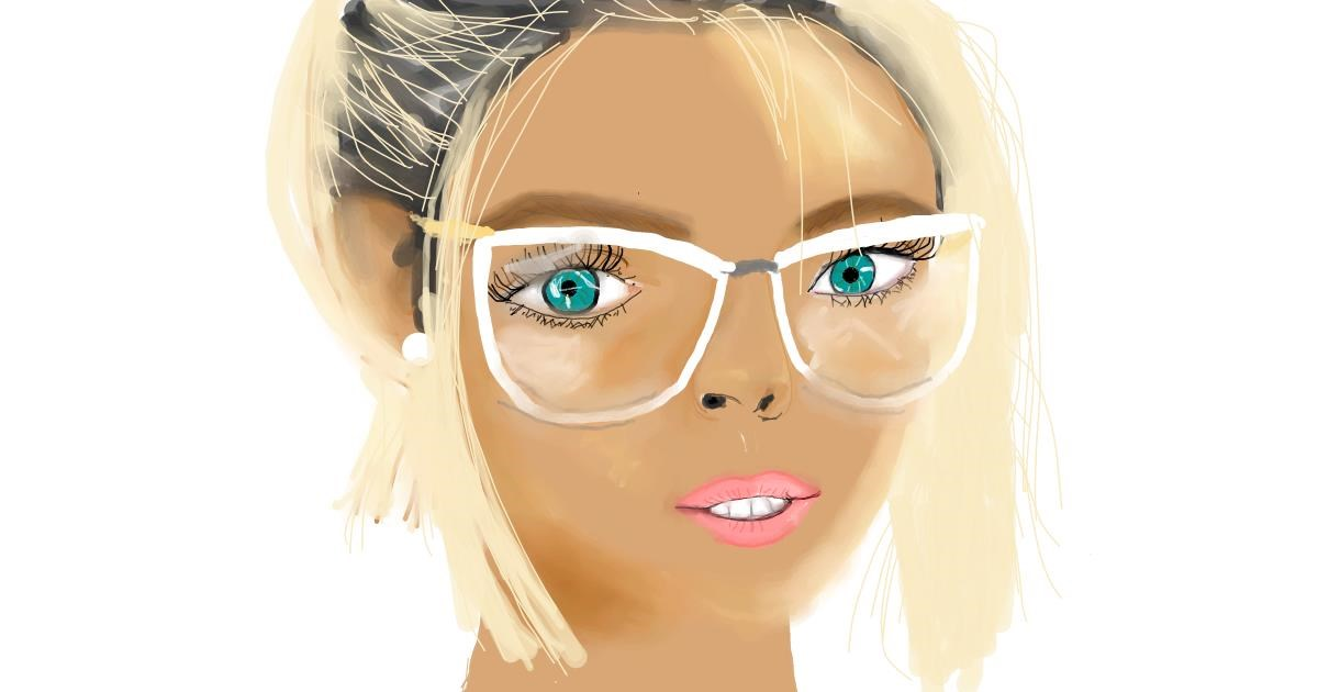 Drawing of Glasses by Pam
