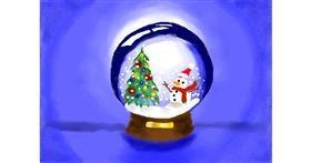 Drawing of Snow globe by Debidolittle