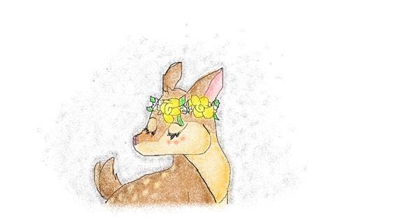 Deer drawing by coconut